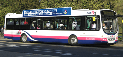 CV-Library bus advertising