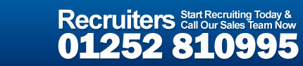 Recruiters - Start recruiting today and call our sales team now on 01252 810995