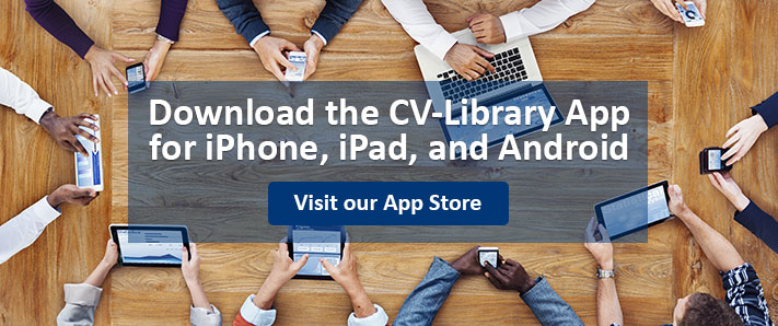 Download the CV-Library App for iPhone, iPad and Android