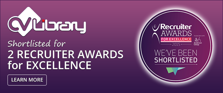 CV-Library have been shortlisted for 2 Recruiter Awards for Excellence