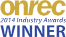Best use of mobile Winner - Onrec 2014 Industry Awards