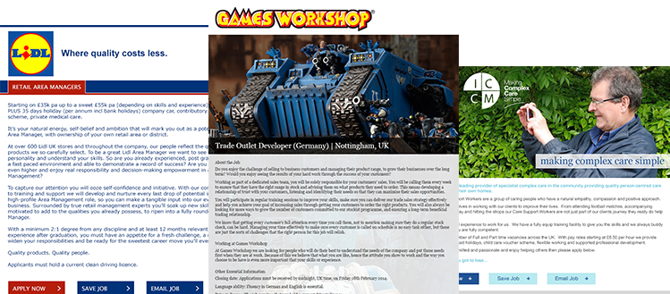Lidl | Games Workshop | ICCM Care
