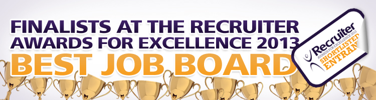 Finalists for Best Job Board at the Recruiter Awards 2013