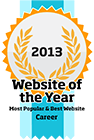 2013 and 2012 Website of the Year